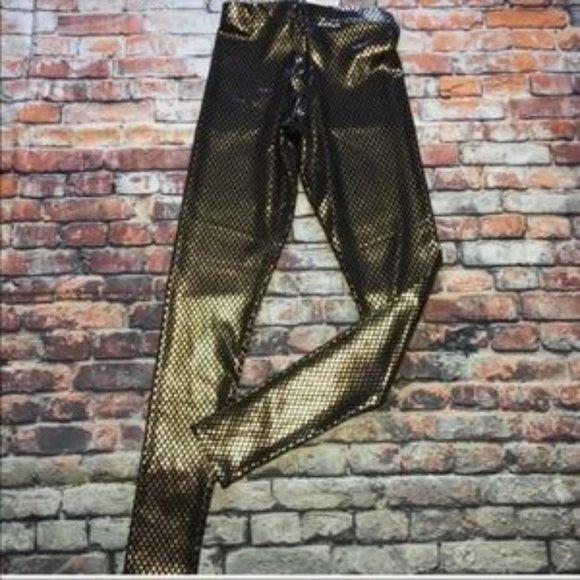One billion tiny gold squares blackmilk leggings